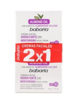 Babaria Set de creme anti-rid pu fata 'Almond Oil', 2x50ml.